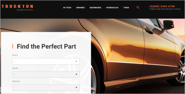 Cars Auto parts PrestaShop Theme