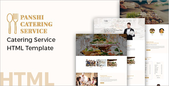 Catering Service Blogger Template