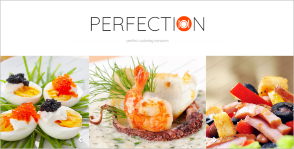 Catering Services Extension Website Theme