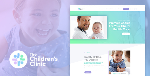 Children's Clinic Website Template