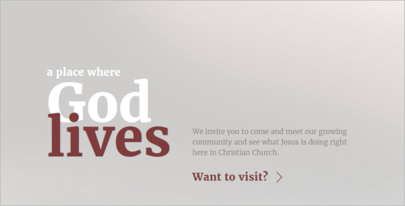 Christian Website Template