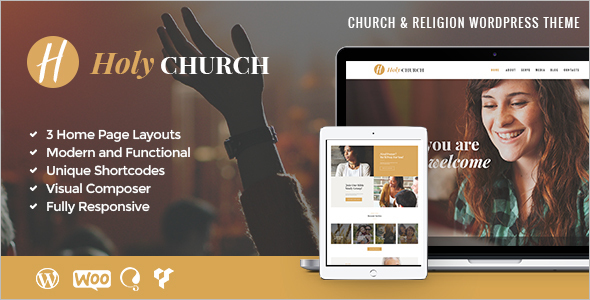 Church Website Design Theme