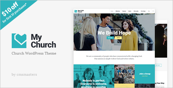 Church Website Theme Model