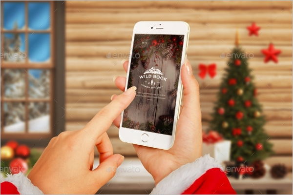Clean Christmas Tree Mockup Template