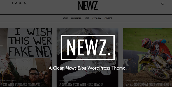 Clean News WordPress Theme
