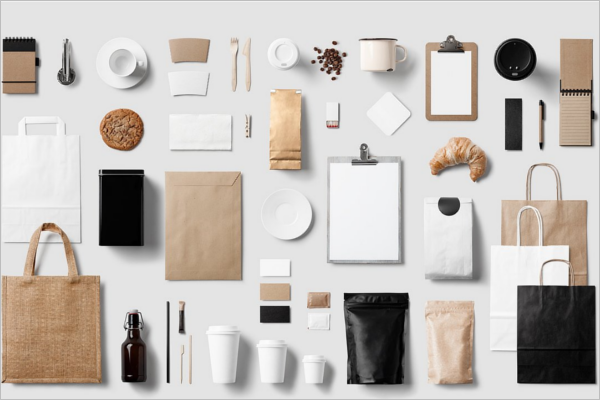 Coffee Branding Elements Mockup