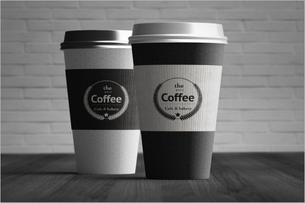 Coffee Cup Packing Mockup