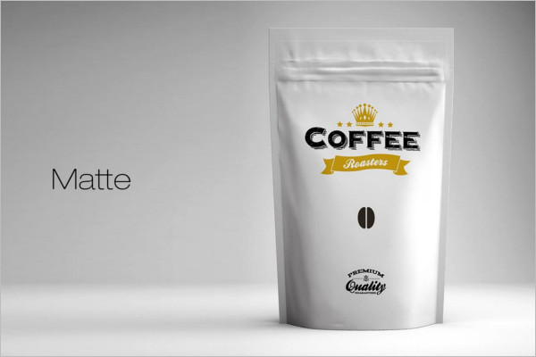 Coffee Powder Packing Mockup