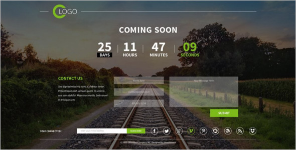 Coming Soon PSD Website Template