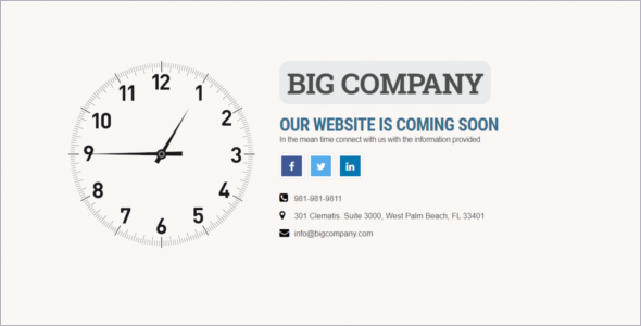 Coming Soon Timing Website Template