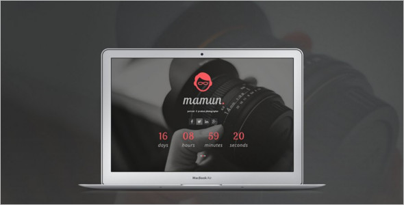 Coming Soon Website Design Template