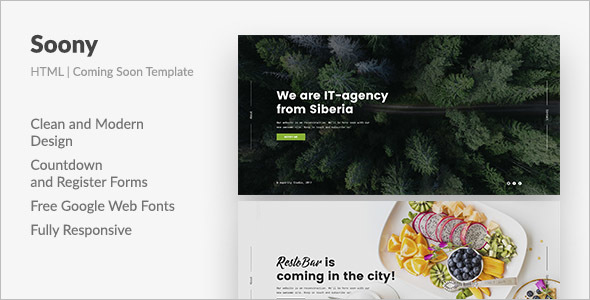 Coming Soon Website HTML Template