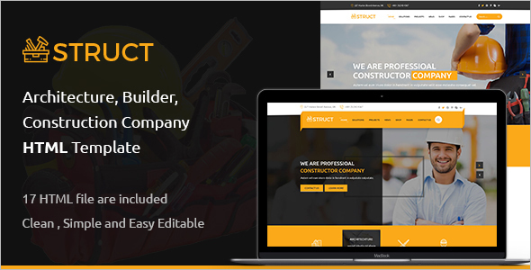Construction Bootstrap Blog Template