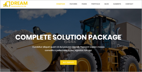 Construction Bootstrap Website Template