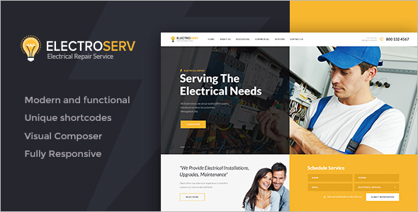 Construction Company Idea Website Theme