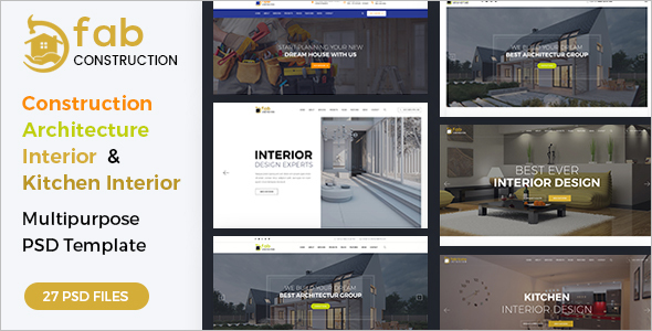 Construction PSD Joomla Template