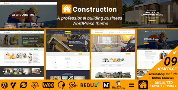 Construction Renovation Website Theme