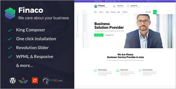 Consultancy Business Website Theme