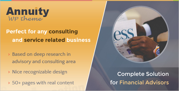 Consultancy Financial Website Template