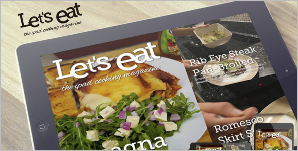 Cooking iPad Magazine Template