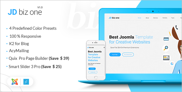 Creative Business Joomla Website Template