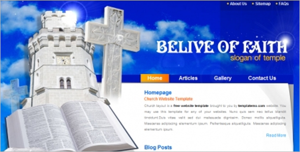 Creative Church Website Theme