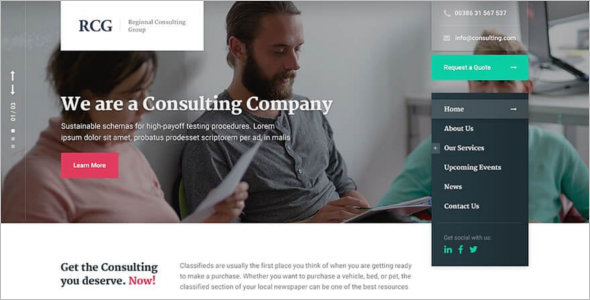 Creative Consultancy Website Theme