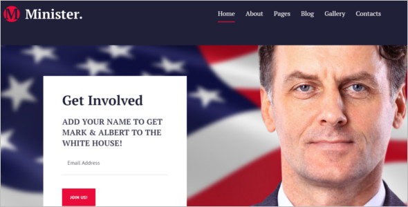 Creative Political Joomla Template