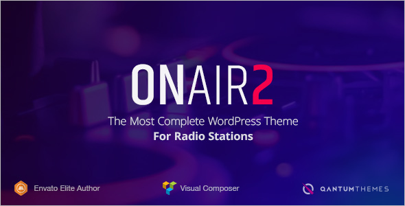 Creative Radio station Website Template