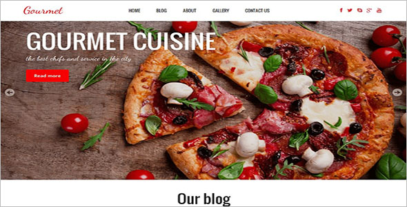 Creative Restaurant Website Theme