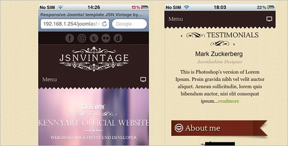 Creative Vintage Website Theme