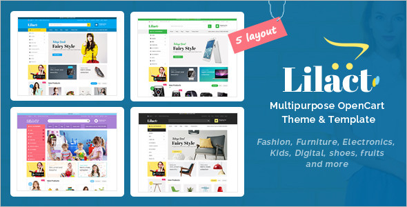 Customizable Fashion OpenCart Theme