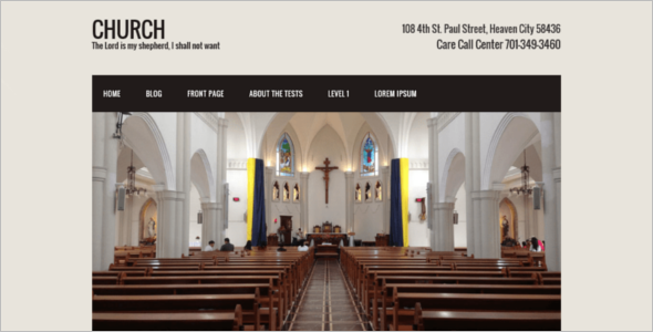 Customize Church Website Theme