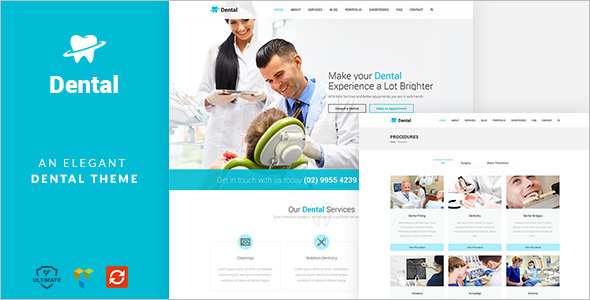 Dental Health Website Template