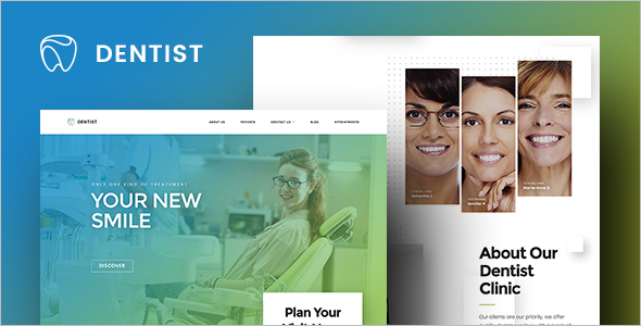 Dental care Website Theme