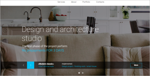 Designer Studio Website Theme