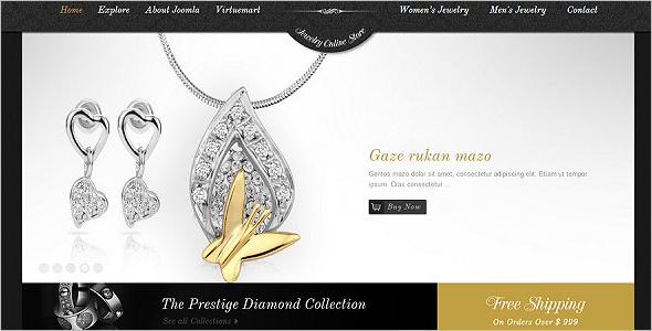 Diamond  Jewelry VirtueMart Theme