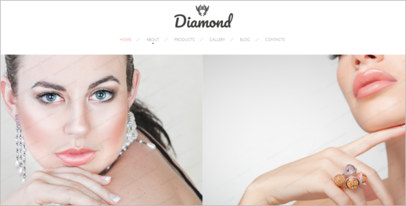 Diamond Jewelry Website Template