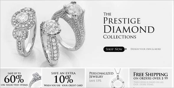 Diamond Jewelry ZenCart Template