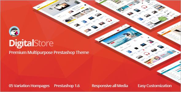 Digital PrestaShop 1.6 Theme