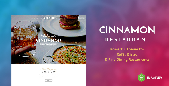 Dining Food Website Template