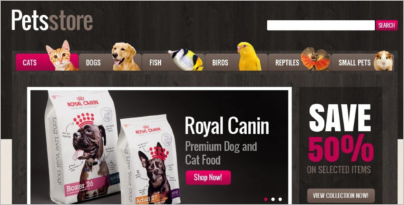 Dog Clothing Magento Template