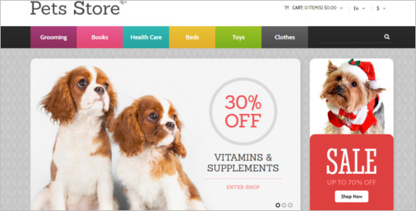 Dog OpenCart Template