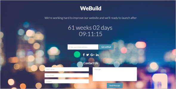 Download Coming Soon Website Template