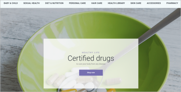 Drug Business Prestashop Template