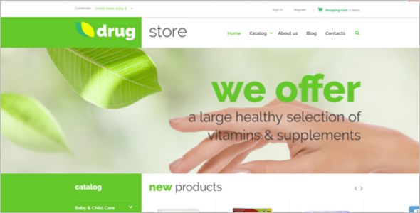 Drugstore VirtueMart Template