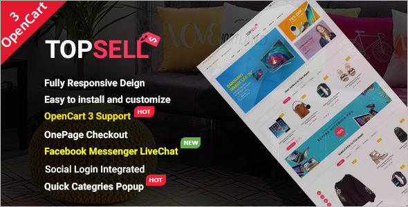 E-Commerce Fashion OpenCart 3 Theme