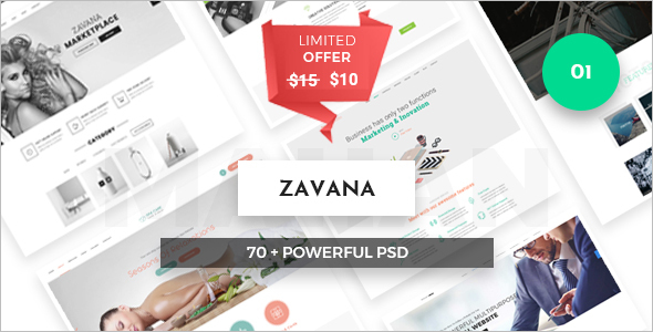 E-Commerce PSD Website Theme
