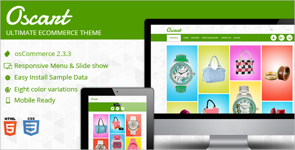 E-Store Oscommerce Template