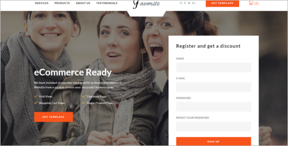 Ecommerce Bootstrap Website Template